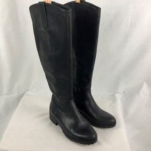 Universal Thread 7.5 Black Leather High Boots